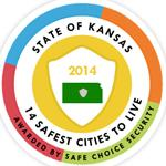 Safe Cities Kansas Safety Award logo